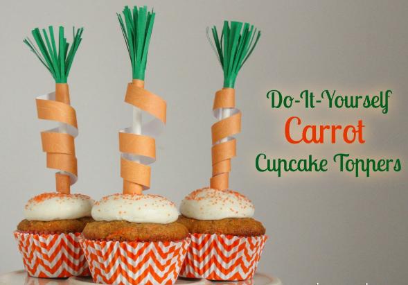 diy cup cake carotte